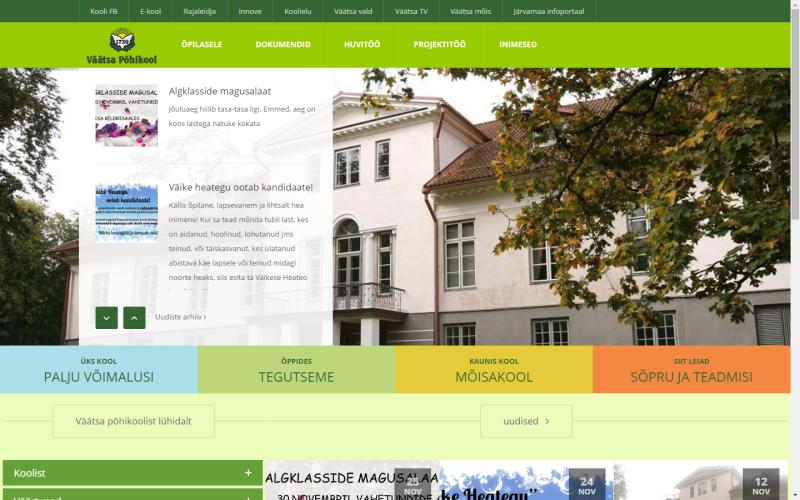Väätsa PK uus veebileht