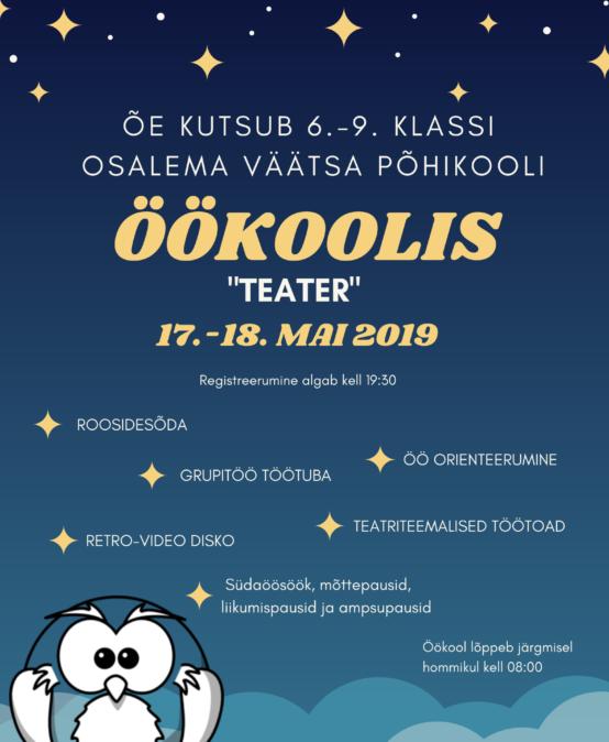 ÖÖkool 17.-18. mai 2019